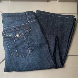 2/$55 Joe's Jeans Honey Fit, Thick Stitched Dark Wash Bootcut, 28